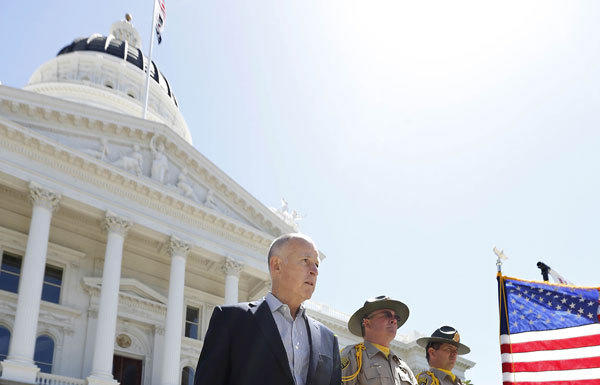 Gov. Jerry Brown finds himself tussling with fellow Democrats over healthcare.