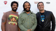 A week after the Rolling Stones played a semi-secret club date as a musical publicity stunt, reggae scion Ziggy Marley did the same -- performing a short set of his father's standards and his own originals Friday afternoon at a remote roadside cafe on the Angeles Crest Highway, to an audience of several hundred motorcycle riders.