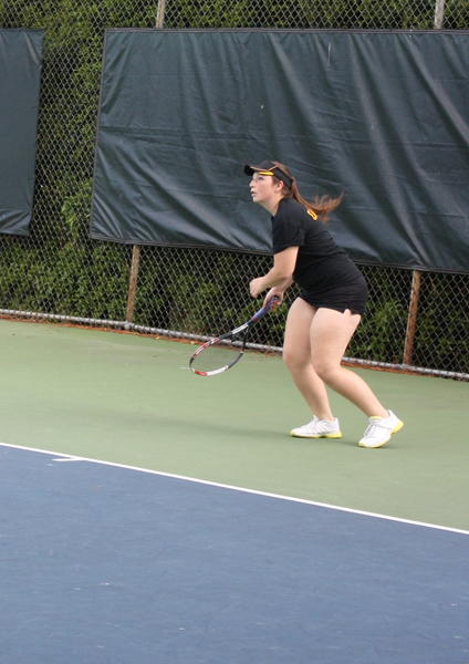 Christine Riddett, completing her third year at Gloucester, captured her first Peninsula District girls singles championship.