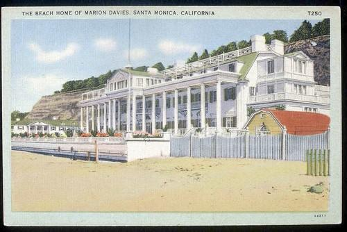 Hearst Santa Monica Mansion color postcard
