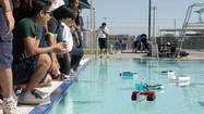 BRAWLEY – After six weeks of hard work and critical thinking, a group of sixth graders at Sunflower Elementary School were ready to test their solar-powered boats at the Lions Center pool here Friday morning.