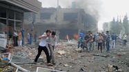BEIRUT — The death toll from a pair of car bombs Saturday in the southern Turkish town of Reyhanli has risen to at least 40, according to authorities and news reports, the latest apparent example of spillover violence from the conflict in nearby Syria.