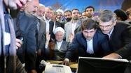 TEHRAN -- The run-up to Iran's June presidential elections took a dramatic turn Saturday when two controversial figures -- former President Akbar Hashemi Rafsanjani and Esfandiar Rahim Mashaei, top aide to outgoing incumbent Mahmoud Ahmadinejad -- made last-minute candidacy announcements.