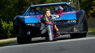 Macy Causey races at Virginia Motor Speedway