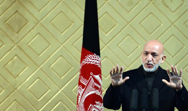 Afghan President Hamid Karzai, seen at a ceremony marking the 8th anniversary of Kabul University on May 9, has publicly criticized U.S. actions in his country.