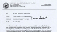 Grade-integrity issue at Washington High School