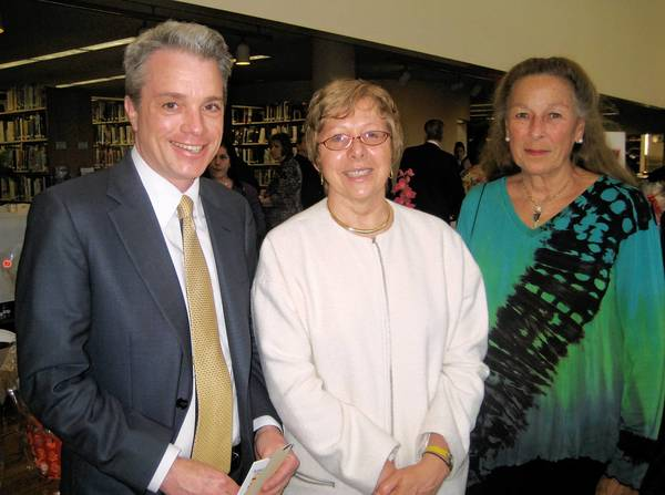 Eric Butz (left), Debora Roberson and Carol Watters helped raise funds to support the Allentown Public Library at the 3rd annual Novel Affair gala on April 20.