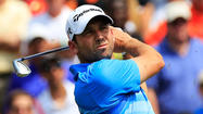 PONTE VEDRA BEACH, Fla. -- Sergio Garcia blamed a roar from the crowd watching Tiger Woods for an errant shot that saw him lose the lead at the Players Championship on Saturday.