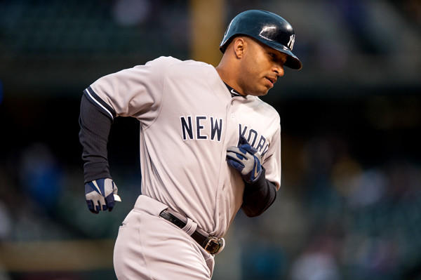 New York Yankees' Vernon Wells played third base for the first time in his career during Wednesday's game against the Colorado Rockies.