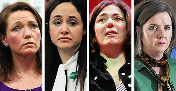 Sandy Hook mothers Nicole Hockley, left, Nelba Marquez-Greene, Francine Wheeler and Jackie Barden.