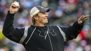 "MINNEAPOLIS -- Former Ravens center Matt Birk, a Minnesota native, threw out the ceremonial first pitch Saturday night before the Orioles faced the Twins at <a class=""runtimeTopic"" href=""new?code=story"" data-topic-id=""PLREC00122"">Target Field</a>."