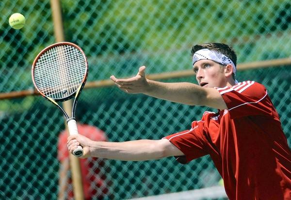 Parkland's NO. 1 singles player Egor Ivanov earned a 6-1, 6-4 victory Saturday over district singles runner-up Matt FitzMaurice, a promising freshman from Emmaus.