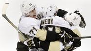 UNIONDALE, N.Y. -- Brooks Orpik scored 7:49 into overtime Saturday night as the Pittsburgh Penguins eliminated the New York Islanders with a 4-3 win in Game 6 of their Eastern Conference quarterfinal series in front of a sellout crowd of 16,170 Nassau Coliseum.