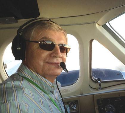 Bernie Christenson was at the controls during a recent flight for Gov. Dennis Daugaard near Vermillion.