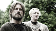 "<span class=""Normal__Char"" style=""font-family: 'Cambria','Arial';"">The unlikely bond between Sir Jaime Lannister (Nikolaj Coster-Waldau) and his former guard Brienne of Tarth (Gwendoline Christie) continues to blossom in ""Game of Thrones"" Episode 27, ""The Bear and the Maiden Fair.""</span>"