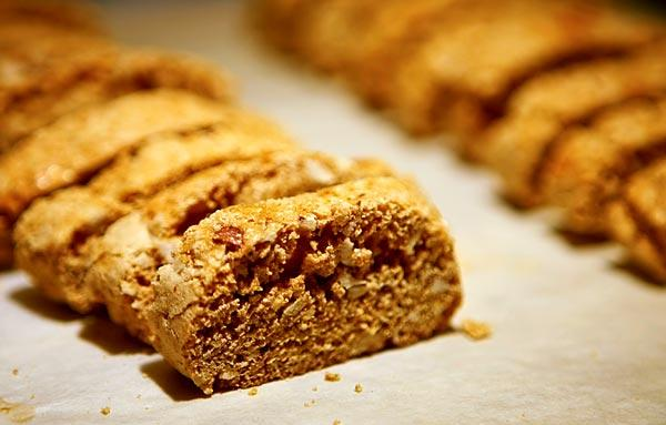 Hazelnuts provide moisture and flavor in Cantucci — Biscotti di Prato.