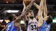 MEMPHIS, Tenn. -- The Memphis Grizzlies kept home-court advantage on Saturday that it stole from Oklahoma City, but it wasn't easy.