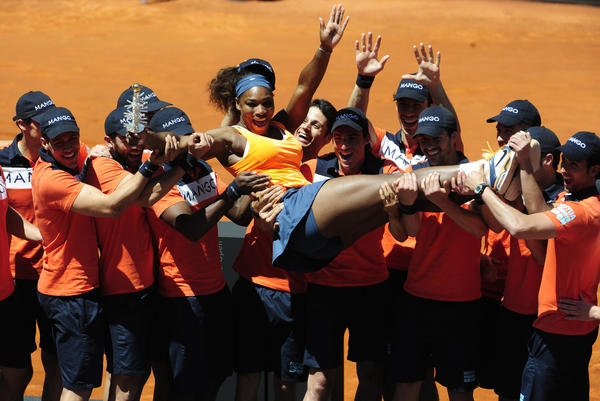 Serena Williams after winning the Madrid Open