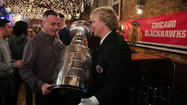"""Chicago Fire"" actor David Eigenberg holds the Stanley Cup"