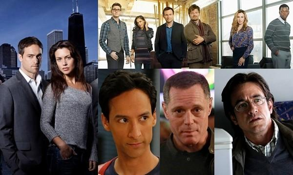"""Betrayal"" (clockwise from left), ""Mind Games,"" ""Crisis"" and ""Chicago PD"" are new network shows set to film in Chicago, hometown of ""Community"" star Danny Pudi."
