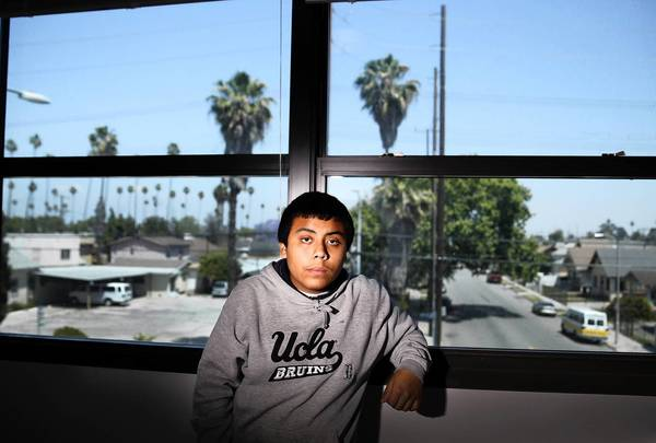 "David Chinchilla, 15. was suspended for interrupting and cursing at a teacher. But he and the teacher also engaged in a ""restorative justice"" exercise."