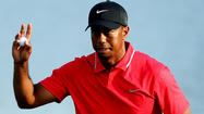 Tiger Woods overcame a bumpy final round, holding off Sergio Garcia, Jeff Maggert and rookie David Lingmerth to win the Players Championship on Sunday in Ponte Vedra Beach, Fla.