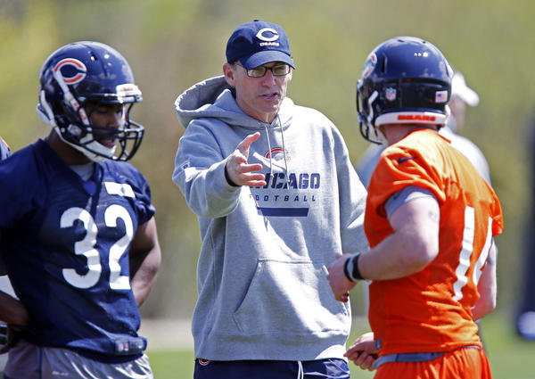 Bears coach Marc Trestman during rookie minicamp.