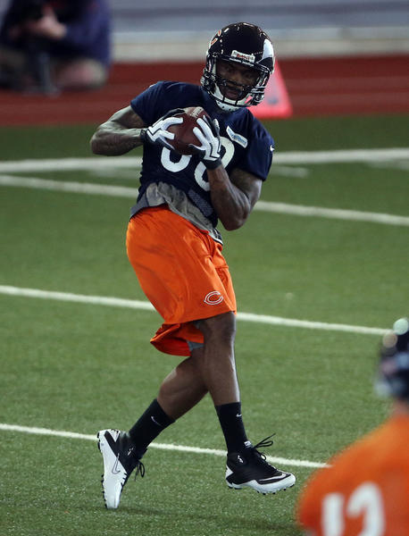 Wide receiver Earl Bennett during Bears minicamp in April.