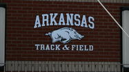 <strong></strong>COLUMBIA, Mo. -- Running its streak of consecutive overall league titles to seven, the No. 5 University of Arkansas men's track and field team won the 2013 SEC Outdoor Championships this weekend in Columbia, Mo. With the help of five SEC event titles—all won Sunday—the Razorbacks finished the meet with 152.5 points to complete the program's second-consecutive SEC Triple Crown. The win also marks the 18<sup>th</sup> SEC outdoor team title in program history, and third in a row for Arkansas.