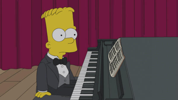 "Bart Simpson enters the world of classical piano in Sunday's episode of ""The Simpsons"" on Fox."