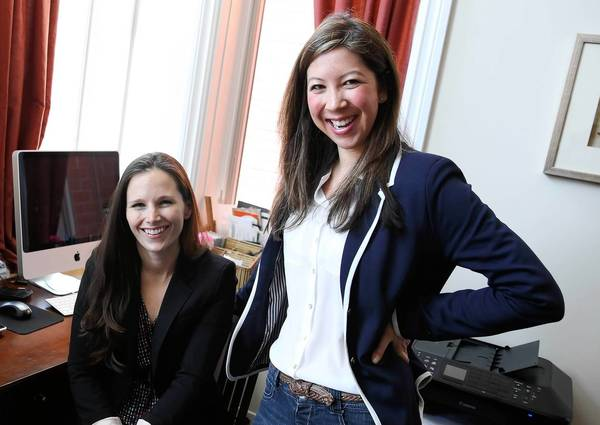 Sarah Moshman, left, and Dana Michelle Cook are using a Kickstarter website campaign to fund a cross-country trip to interview and film 10 inspiring women professionals for a documentary meant to inspire the next generation of female leaders.
