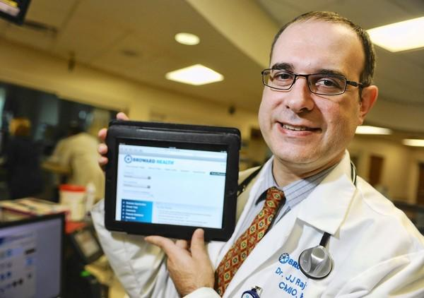 Jean-Jacques Rajter M.D., is one of 200 physicians affiliated with Broward Health hospitals who use their own tablet or laptop to update patient orders or access records at the hospital. They're able to do so through Fort Lauderdale-based Citrix Systems virtualization technology.