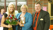 EAST JORDAN -- Phyllis Priest was named the 2013 mother of the year at the East Jordan Lions Club Mother and Daughter Banquet on Saturday. The award was presented by Lions Club president Jeff Argetsinger.