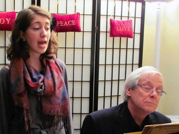 Erin O'Luanaigh and John Brighenti, the Take Two Jazz Duo, performs Friday, May 17, at Trinity-On-Main in New Britain.