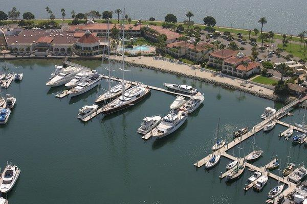 The Kona Kai Resort and Spa on Shelter Island in San Diego.