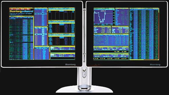 A Bloomberg terminal.