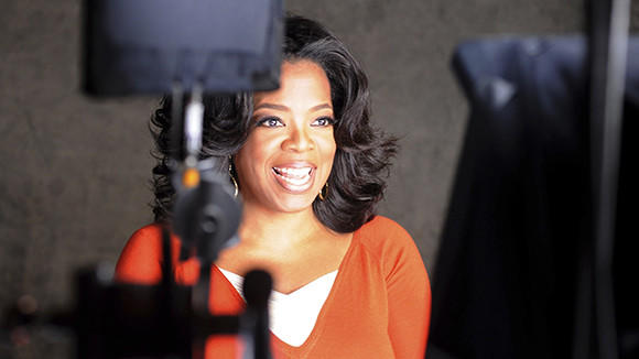 "Oprah Winfrey is shown during a segment of an episode of ""Master Class"" from the new Oprah Winfrey Network (OWN), in this undated publicity photo."