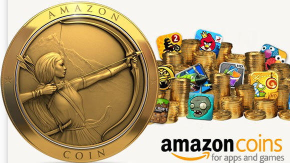 A screen grab of the digital coins that Amazon.com launched Monday.