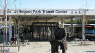 Jefferson Park Transit Center lighting