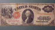 Dollar with red seal