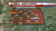 "<span style=""font-size: small;"">Kansas may have skipped over spring with temperatures jumping into the 90s for much of the area Tuesday afternoon. </span>"