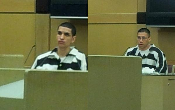 Pargu Leandro, left, and Victor Gonzalez, right, were sentenced Monday, May 13, 2013, to 15 years in prison for the 2009 beating death of Craig Cohen.