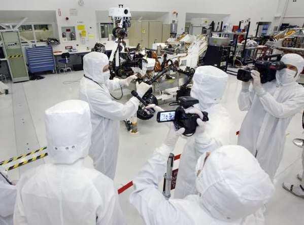 "The ""clean room"" at JPL in La Canada Flintridge."