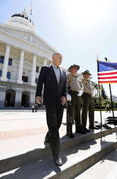California Gov. Jerry Brown told crime victims at a Capitol rally last month that he would take his fight against orders to further reduce prison crowding to the U.S. Supreme Court. Brown began that appeal process Monday.