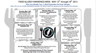 "<a href=""http://www.foodallergyednetwork.org"" target=""_blank"">The Food Allergy Education Network</a>, based in Branford, has put together a week of activities for Food Allergy Awareness Week (5/12-18).  ""Friend Day"", ""Restaurant Day"" and ""School Day"" are all about raising awareness and promoting education about making the world safer for people with these life-threatening allergies."