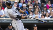 White Sox right fielder Alex Rios hits an RBI double Monday. (Jesse Johnson/USA TODAY Sports photo)