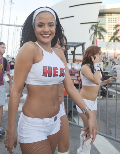Photos: Miami Heat Dancers in action - White Hot Road Rally