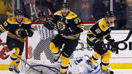 BOSTON -- The Boston Bruins, their season apparently over early in the third period, came all the way back from a 4-1 deficit and eliminated the Toronto Maple Leafs with a stunning 5-4 overtime victory in Game 7 of their Eastern Conference first-round series Monday night.
