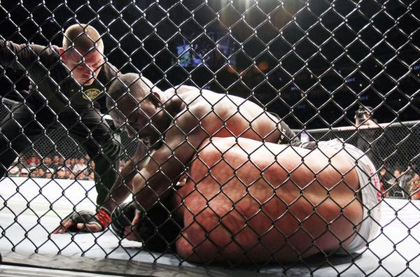 Ultimate Fighting Championship programming is a mainstay on Fuel TV, which sources say will become Fox Sports 2. Here, Jon Jones, top, is seen successfully defending his UFC light heavyweight title against Chael Sonnen in Newark, N.J., during the pay-per-view UFC 159 event.
