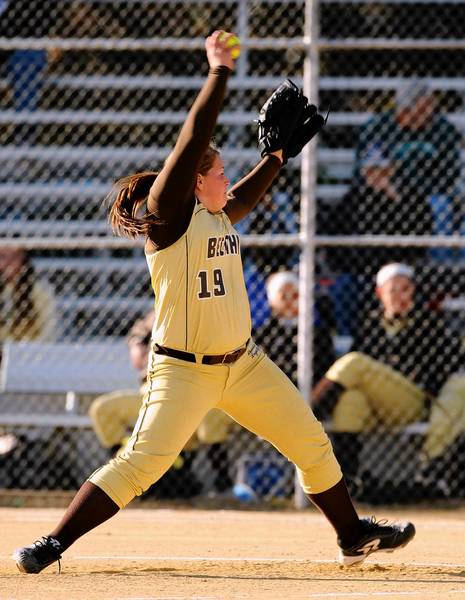 Bethlehem Catholic pitcher Joelle Morey went all 7 innings on the mound helping Becahi overcome a late charge by Freedom for a 3-2 win Monday in LVC semifinal action.